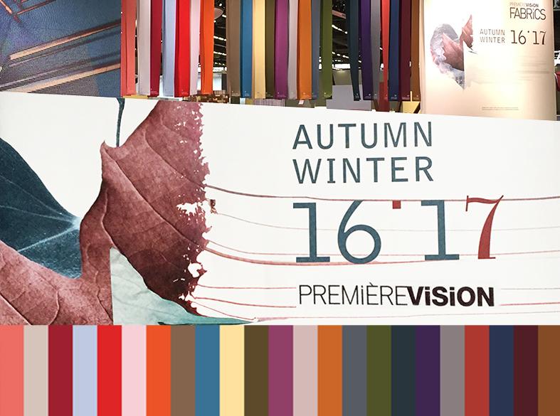 Première Vision Paris Color Trend Fall Winter 2016 2017