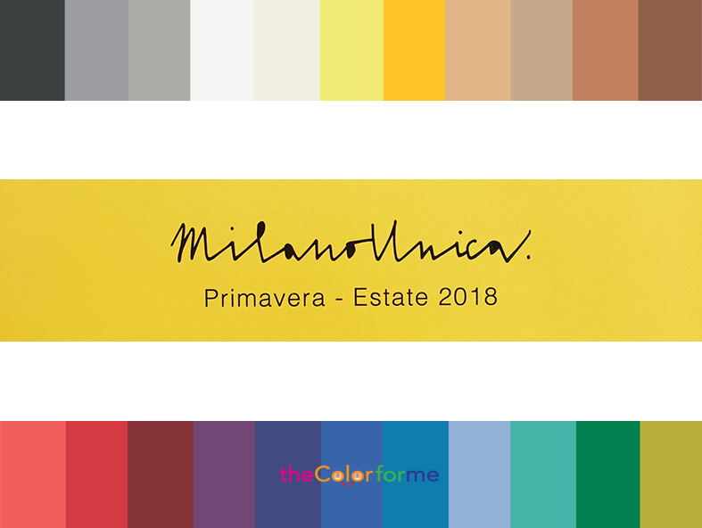 Milano Unica Color Trend Spring Summer 2018