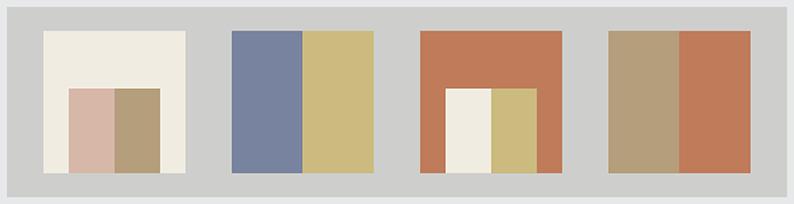 PUREZZA - MORBIDEZZA - INTEGRAZIONE Colori: Bianco Panna, Azzurro ortensia, Sabbia, Rosa cameo, Ocra scuro, Terra di Siena.