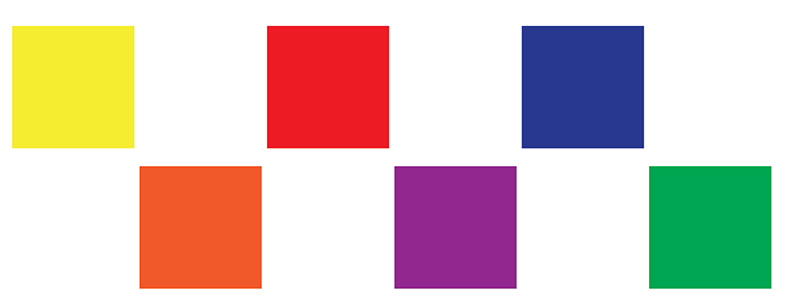 Hue is the feature that allows us to clearly distinguish one color from another such as: YELLOW, RED, BLUE...