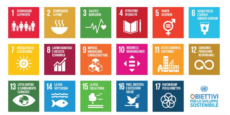 L'Agenda 2030 per lo Sviluppo Sostenibile: i 17 Obiettivi dei Paesi membri dell'ONU